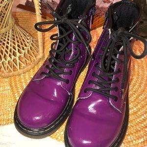 Dr. Martens Girls Purple Boots